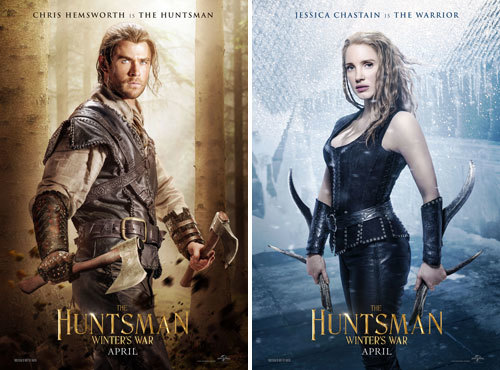 Chris Hemsworth is The Huntsman and Jessica Chastain is The Warrior