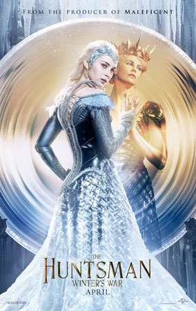 Charlize Theron and Emily Blunt as The Queens