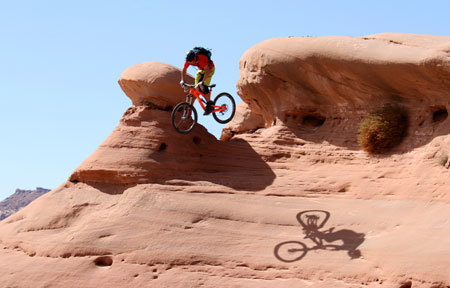 Wild mountain biking in Utah