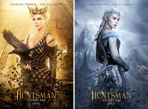 Charlize Theron is The Evil Queen and Emily Blunt is The Ice Queen