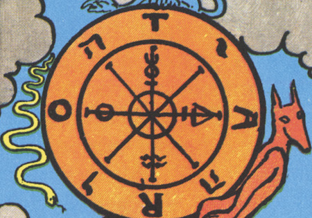 The Wheel of Fortune is a common major arcana card.