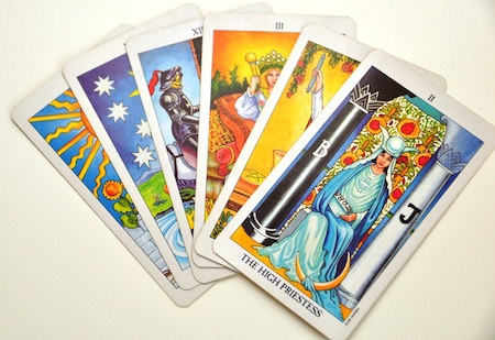 Tarot cards feature amazing art.