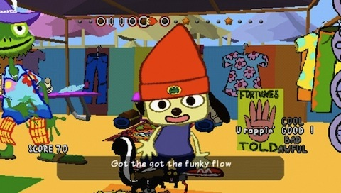 A rapping dog? You betcha! Parappa was pretty cool in the 90's!