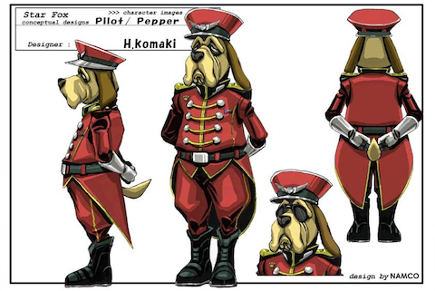 General Pepper guides the Star Fox team into action.