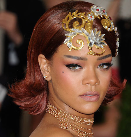 Rihanna takes hair accessories to a whole new level!