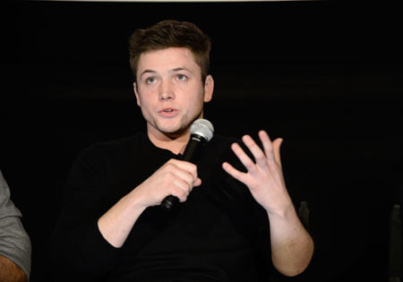 Taron answers questions about the film