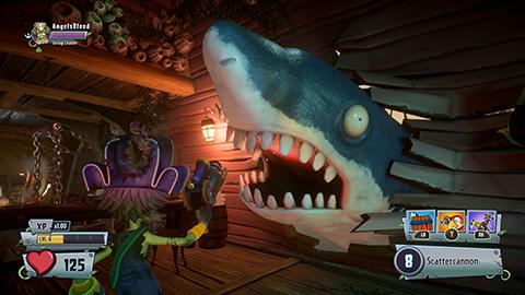This shark has seen better days...
