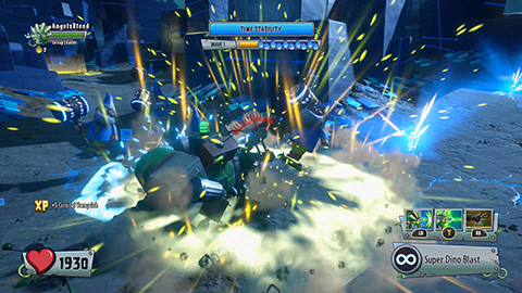 Play as a robotic Triceratops!