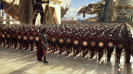 Set (Gerard Butler) with his army
