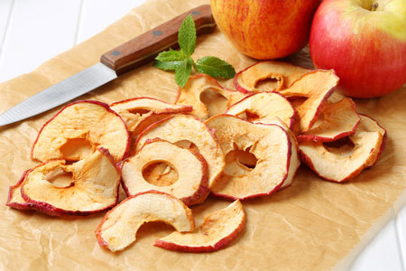 Apple chips are a great alternative to potato chips