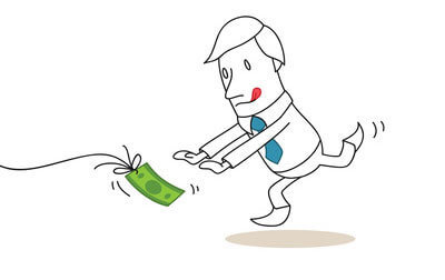 Chasing money!