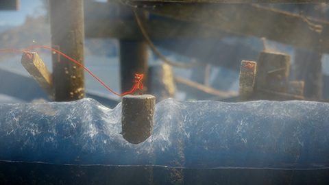 Yarny is not a good swimmer so keep him dry!