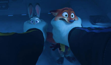 Judy and Nick grabbed by Mr. Big's henchmen