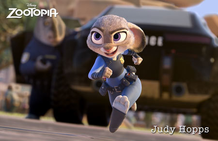 Rookie rabbit officer Judy Hopps