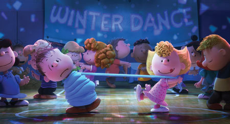 Charlie and Sally at the winter Dance