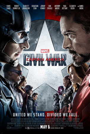 Captain America Face Off Poster