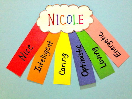 This is just one creative way to present an acrostic name poem.