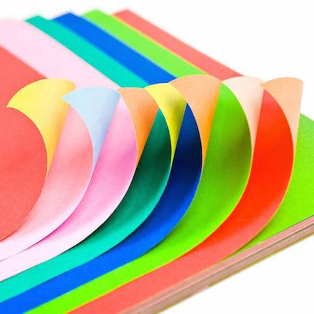 Nowadays, you can get origami paper in loads of colors and patterns!