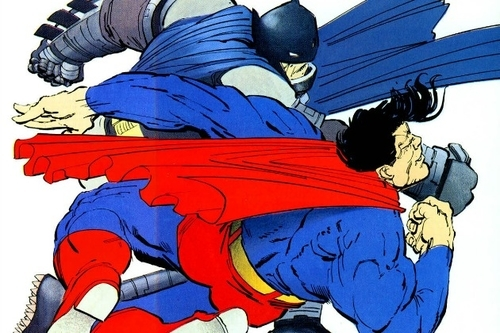 One of the most famous fights between the two DC titans, from Frank Miller.