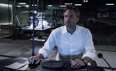 Bruce in the Batcave