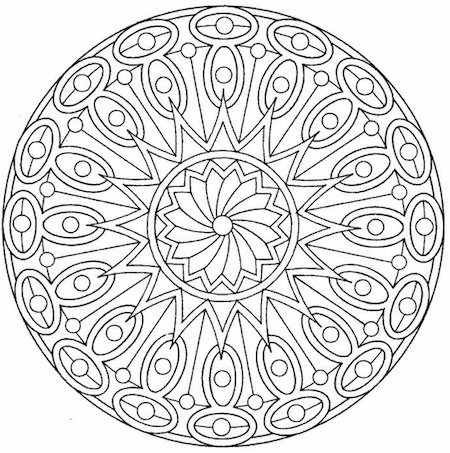 Coloring the geometric designs of a mandala can be surprisingly calming.
