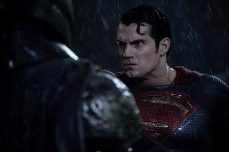 Superman takes Batman on