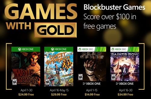 4 awesome games for free in April with GWG!