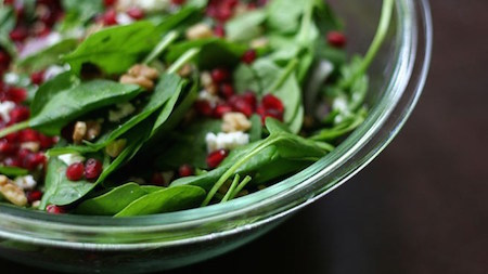 Tired of lettuce? Try spinach in your salad!