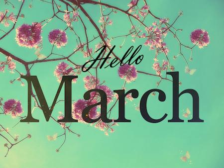 Hello March, goodbye winter!