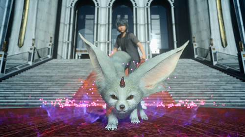 Carbuncle is your magical guide in the Platinum Demo for Final Fantasy XV.