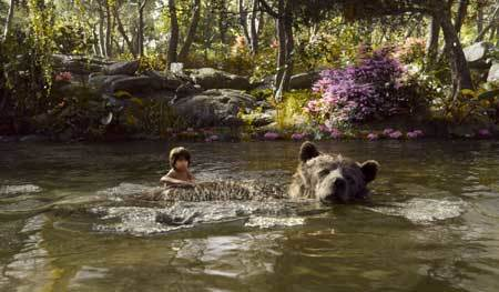 Swimming with bear Baloo