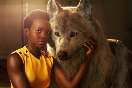 Lupita as wolf Raksha