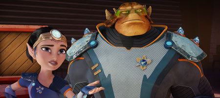 Bella Thorne stars as the voice of Cora and Alessandro Juliani stars as the voice of Stig