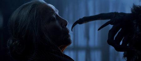 Krampus confronts grandma Omi