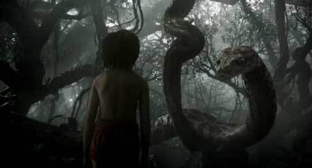 Mowgli confronts Kaa