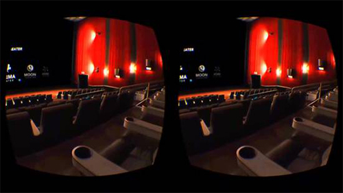 The Oculus Cinema allows users to simulate going out to the theater.
