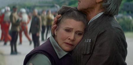 Han comforts Leia