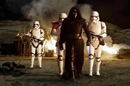 Kylo Ren looks for Luke Skywalker