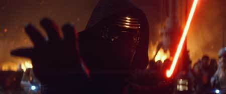 Kylo Ren summons the dark side