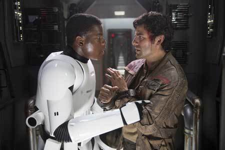 Finn tells Poe he is on his side