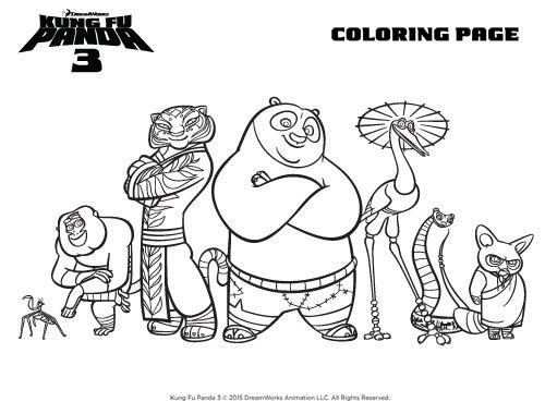 Kung Fu Panda 3 Coloring Page