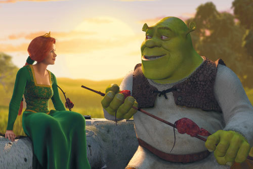 Fiona nd Shrek falling in love