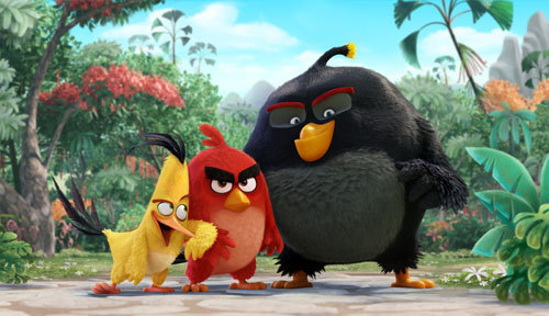 Chuck, Red and Bomb decide to get angry