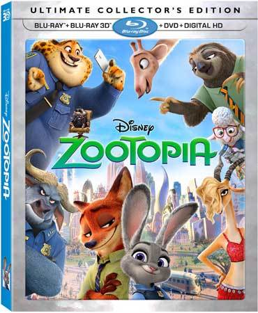 Zootopia Blu-ray Cover