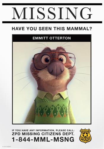 Zootopia Missing Citizen Poster | Emmitt Otterton