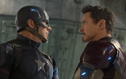 Cap confronts Iron Man (Tony Stark)
