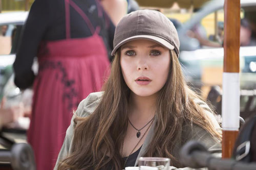 Scarlet Witch in street clothes
