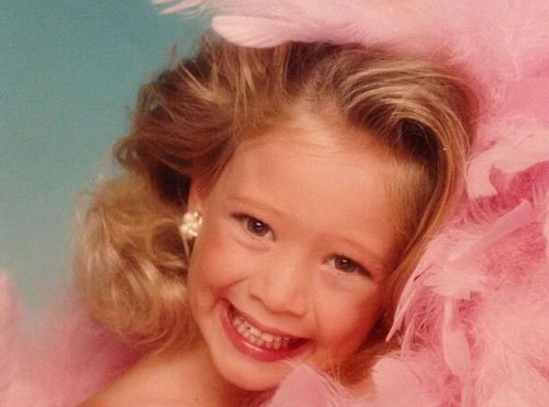 A glamour shot of Hilary as a child