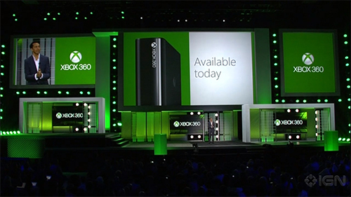 A new model of Xbox 360 launched alongside the Xbox One.