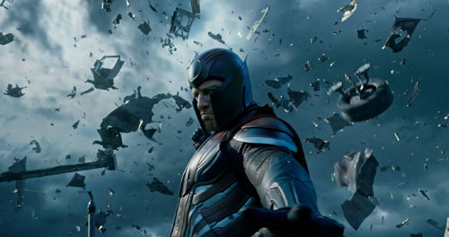 Erik/Magneto has the power to manipulate magnetic fields